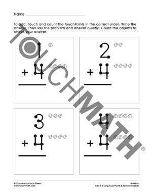 Printables Touch Math Subtraction Worksheets crumbs in the couch touch math stop finger counting insanity you present students with addition problems points on both numbers and children simply add them up by cou